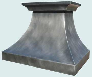 Custom Zinc Range Hood #3975 | Handcrafted Metal Inc