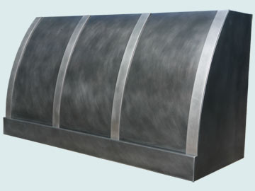 Custom Zinc Range Hoods Single Roll 3977