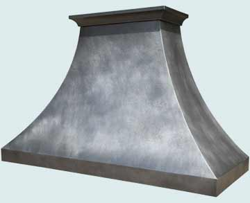 Custom Zinc Range Hoods Double Sweep 3982