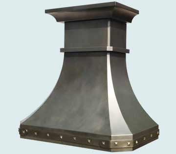 Custom Zinc Range Hood #4034 | Handcrafted Metal Inc