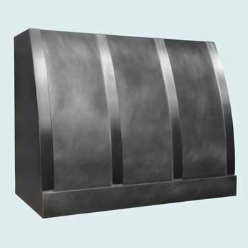 Custom Zinc Range Hoods Single Roll 4038