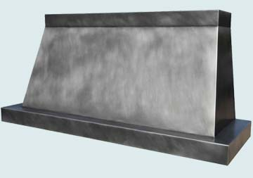 Custom Zinc Range Hood #4173 | Handcrafted Metal Inc