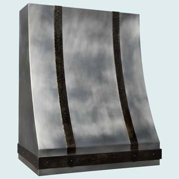 Custom Zinc Range Hood #4176 | Handcrafted Metal Inc