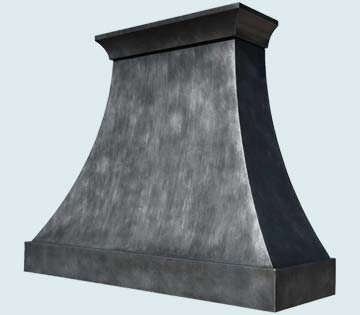 Custom Zinc Range Hoods Double Sweep 4247