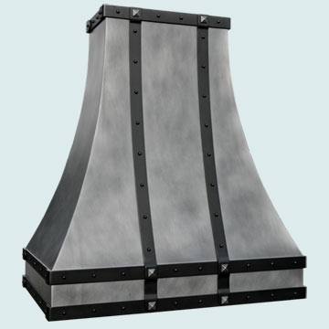 Custom Zinc Range Hoods Double Sweep 4526