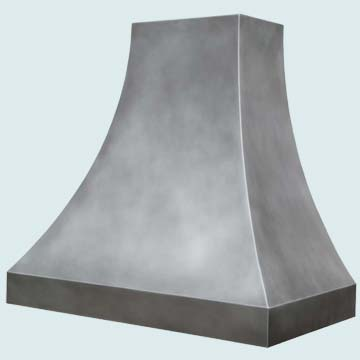 Custom Zinc Range Hoods Double Sweep 4332