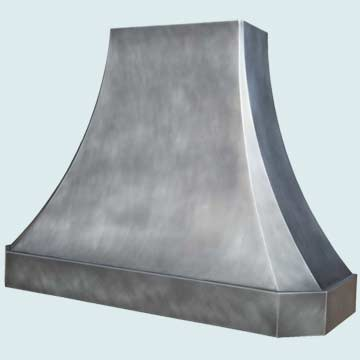Custom Zinc Range Hoods French Sweep 4381