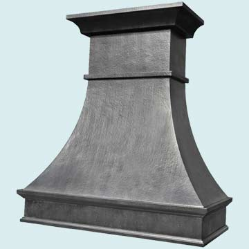Custom Zinc Range Hoods Double Sweep 4395