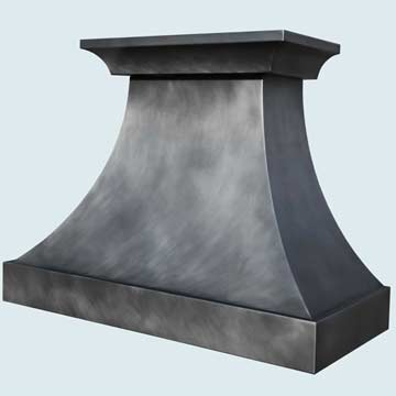 Custom Zinc Range Hood #4405 | Handcrafted Metal Inc