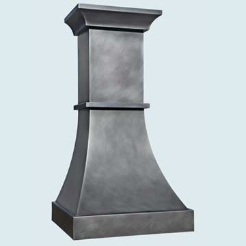 Custom Zinc Range Hoods Double Sweep 4457