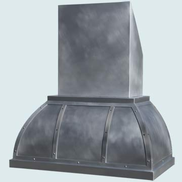 Custom Zinc Range Hoods Double Roll 4471