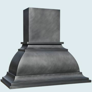 Custom Zinc Range Hood #4473 | Handcrafted Metal Inc