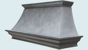 Custom Zinc Range Hoods Double Sweep 4477