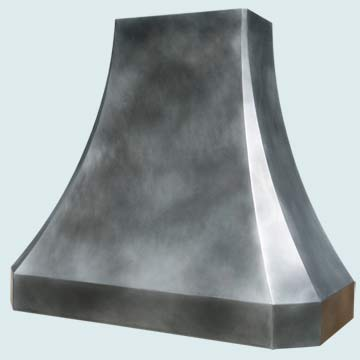 Custom Zinc Range Hoods French Sweep 4571