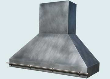 Custom Zinc Range Hood #4608 | Handcrafted Metal Inc