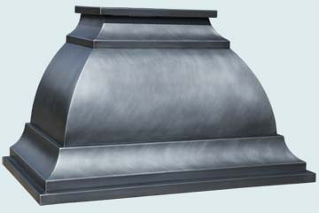 Custom Zinc Range Hood #4615 | Handcrafted Metal Inc
