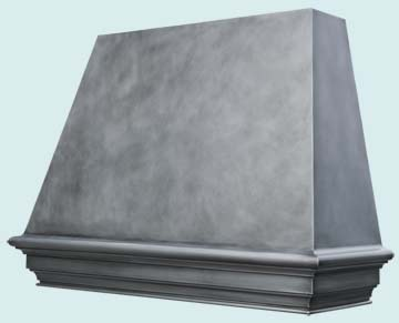 Custom Zinc Range Hood #4635 | Handcrafted Metal Inc
