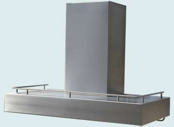 Custom Stainless Range Hoods Ultra Low Profile 4693