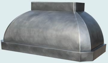 Custom Zinc Range Hoods French Roll 4711