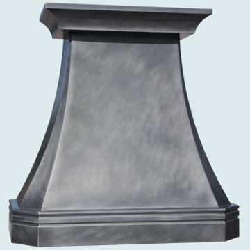 Custom Zinc Range Hood #4722 | Handcrafted Metal Inc