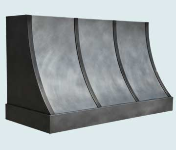 Custom Zinc Range Hoods Sweep Front 4730