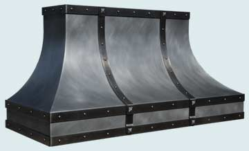 Custom Zinc Range Hood #4739 | Handcrafted Metal Inc