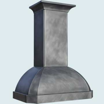 Custom Zinc Range Hoods French Roll 4811