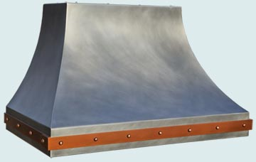 Custom Zinc Range Hood #4820 | Handcrafted Metal Inc