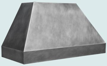 Custom Zinc Range Hood #4875 | Handcrafted Metal Inc