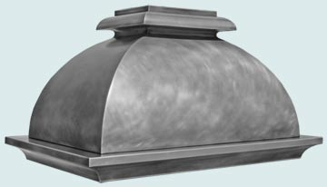 Custom Zinc Range Hoods French Bell 4878