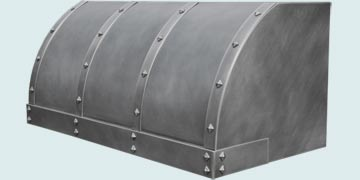 Custom Zinc Range Hoods Single Roll 4890