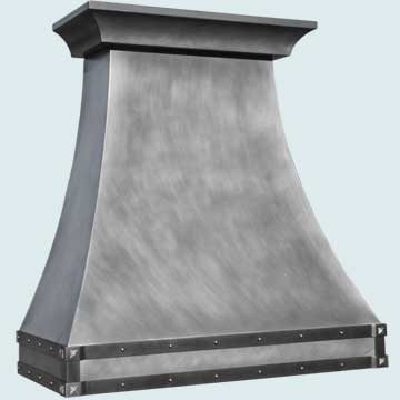 Custom Zinc Range Hoods Double Sweep 5104