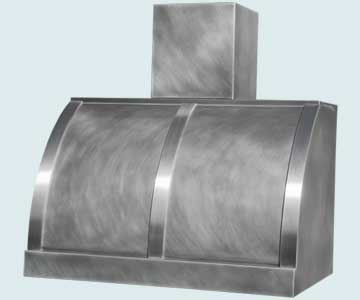 Custom Zinc Range Hoods Single Roll 5131