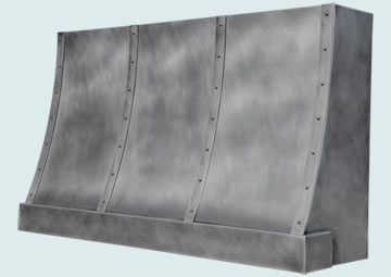 Custom Zinc Range Hood #5150 | Handcrafted Metal Inc