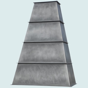 Custom Zinc Range Hood #5151 | Handcrafted Metal Inc