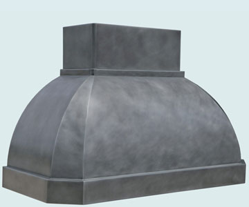 Custom Zinc Range Hoods French Roll 5174