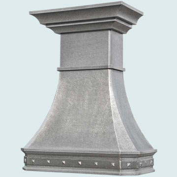 Custom Zinc Range Hood #5227 | Handcrafted Metal Inc