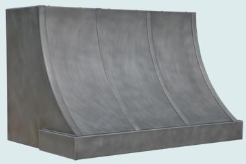 Custom Zinc Range Hood #5317 | Handcrafted Metal Inc