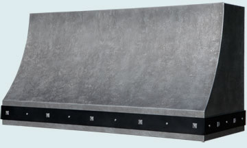Custom Zinc Range Hood #5349 | Handcrafted Metal Inc