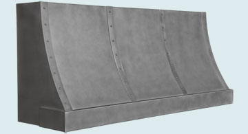 Custom Zinc Range Hood #5390 | Handcrafted Metal Inc