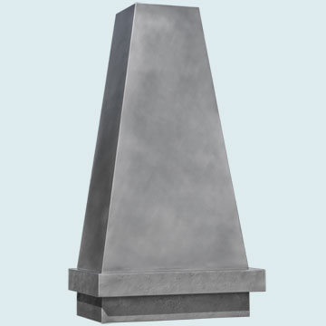 Custom Zinc Range Hood #5400 | Handcrafted Metal Inc