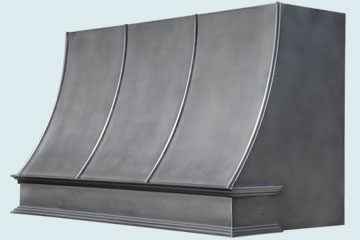 Custom Zinc Range Hood #5405 | Handcrafted Metal Inc