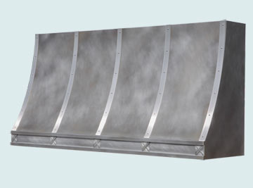 Custom Zinc Range Hoods Sweep Front 5459
