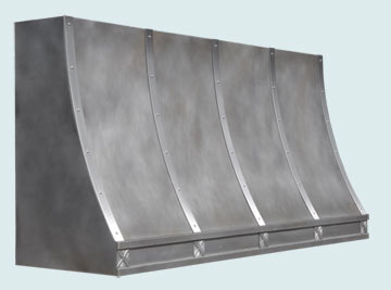 Custom Zinc Range Hood #5459 | Handcrafted Metal Inc