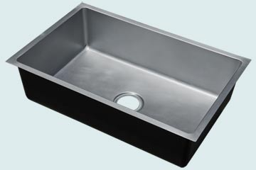 Kitchen Sinks - Zinc Kitchen Sinks- Custom Kitchen Sinks Zinc Kitchen Sinks - Smooth Zinc Basin # 4889