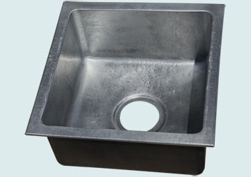 Bar Sinks - Zinc Bar Sinks- Bar & Prep Sinks Zinc Bar Sinks - Zinc Reverse Hammered Drop-In # 5016