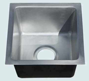Bar Sinks - Zinc Bar Sinks- Bar & Prep Sinks Zinc Bar Sinks - Smooth Zinc # 5096
