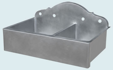 Custom Zinc Kitchen Sinks #5357 | Handcrafted Metal Inc