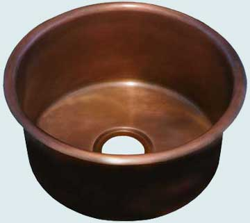 Bar Sinks - Copper Bar Sinks- Round Copper Bar Sinks - Awesome Again # 2877