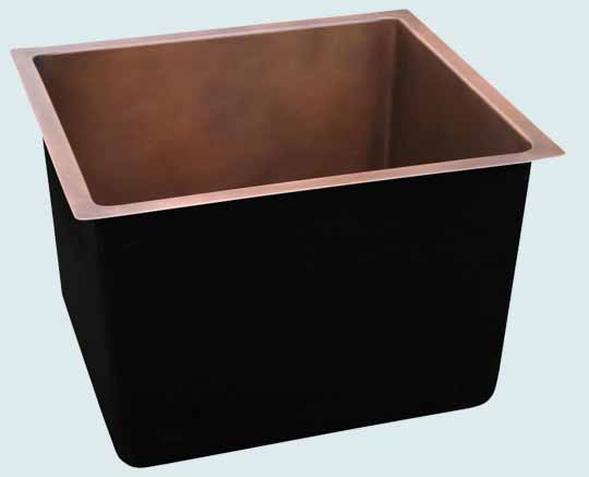 Bar Sinks - Copper Bar Sinks- Bar & Prep Sinks Copper Bar Sinks - Extra Deep Smooth Prep # 3666
